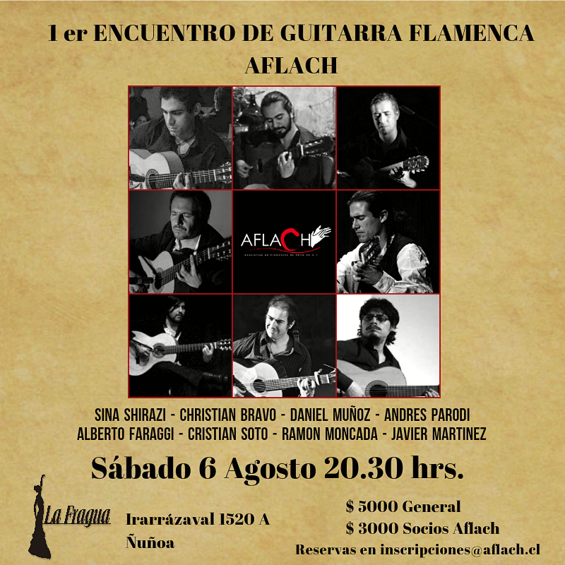 Afiche encuentro guitarra